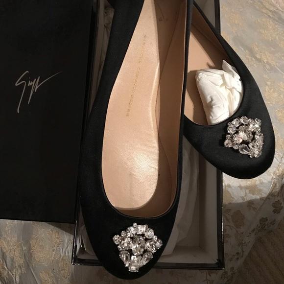 Giuseppe Zanotti Shoes - GIUSEPPE ZANOTTI Jewel-Embellished Satin Flats 10